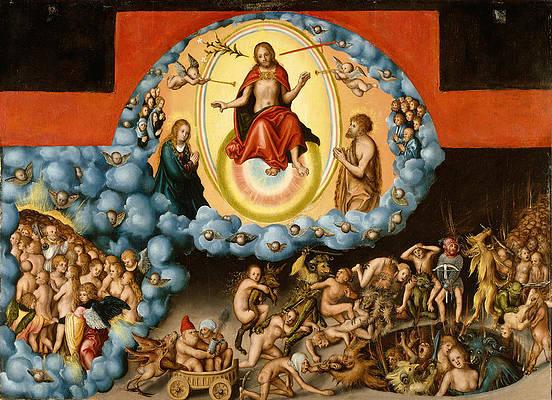 The Last Judgment Print by Lucas Cranach the Elder