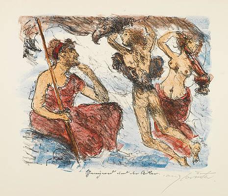 The Liaisons of Zeus Print by Lovis Corinth