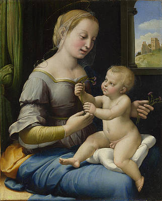 The Madonna of the Pinks Print by Raphael