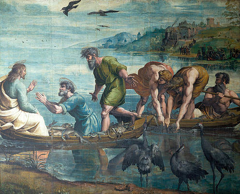 The Miraculous Draft of Fishes Print by Raphael