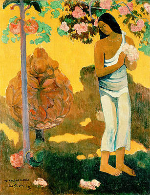 The Month of Mary Print by Paul Gauguin