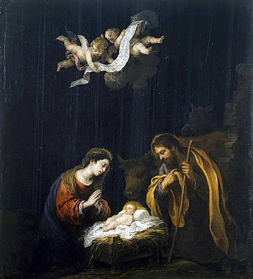 The Nativity Print by Bartolome Esteban Murillo