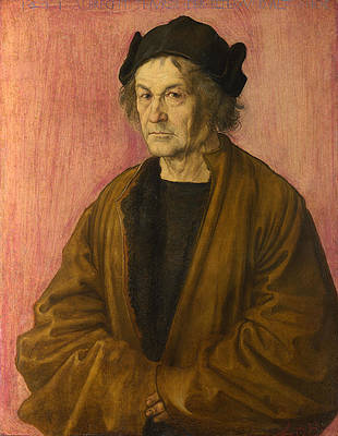 The Painters Father Print by Albrecht Duerer