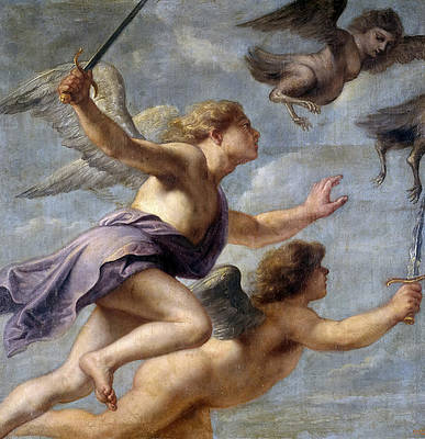 The Persecution of the Harpies Print by Erasmus Quellinus II
