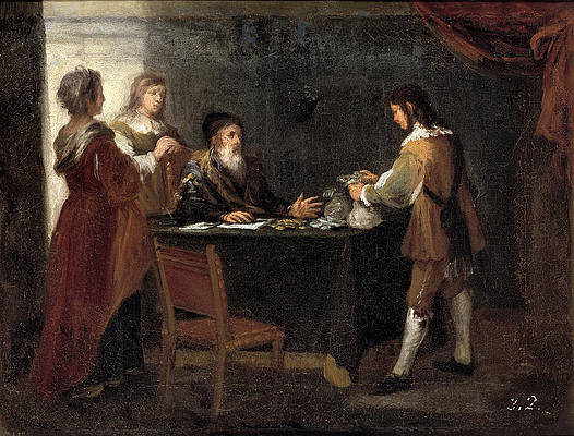The Prodigal Son Receiving his Portion of the Inheritance Print by Bartolome Esteban Murillo
