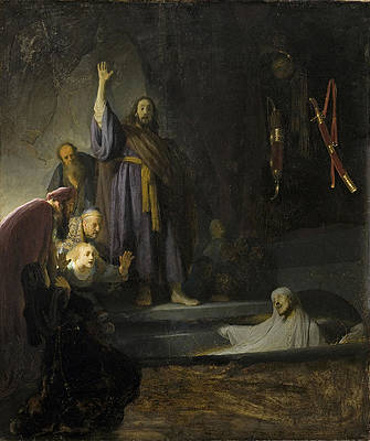 The Raising of Lazarus Print by Rembrandt