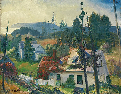 The Red Vine. Matinicus Island. Maine Print by George Bellows