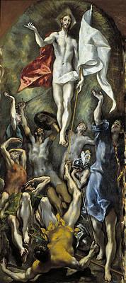 The Resurrection Print by El Greco