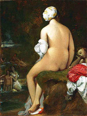 The Small Bather Print by Jean-Auguste-Dominique Ingres