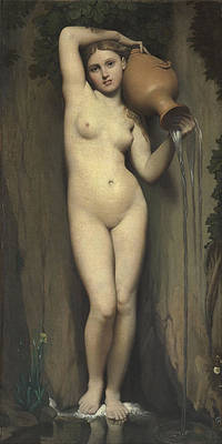 The Spring Print by Jean-Auguste-Dominique Ingres