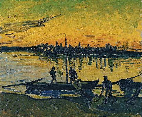 The Stevedores in Arles Print by Vincent van Gogh