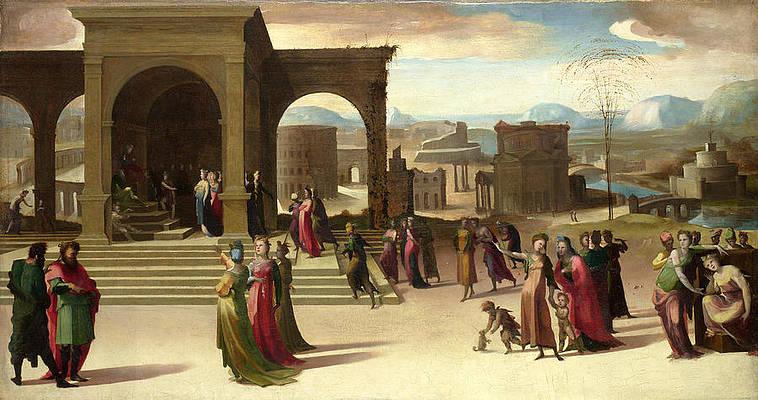 The Story of Papirius Print by Domenico Beccafumi