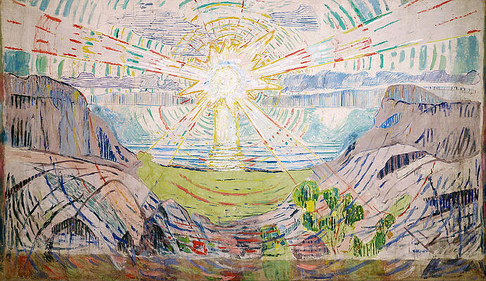 The Sun Print by Edvard Munch