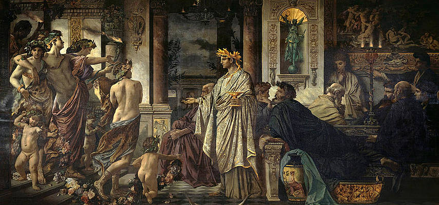 The Symposium. Second Version Print by Anselm Feuerbach