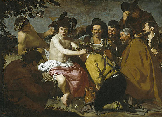 The Triumph of Bacchus Print by Diego Velazquez
