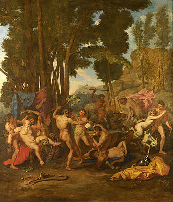 The Triumph of Silenus Print by After Nicolas Poussin