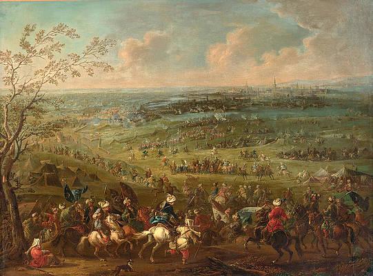 The Turkish siege of Vienna Print by August Querfurt