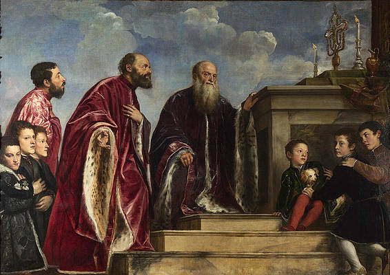 The Vendramin Family Print by Titian and Workshop