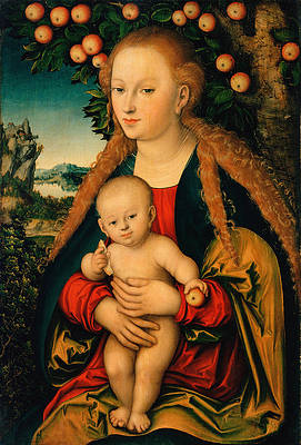 The Virgin and Child Under an Apple Tree Print by Lucas Cranach the Elder