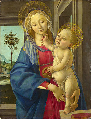 The Virgin and Child with a Pomegranate Print by Workshop of Sandro Botticelli
