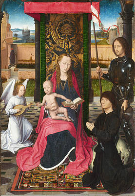 The Virgin and Child with an Angel Print by Hans Memling