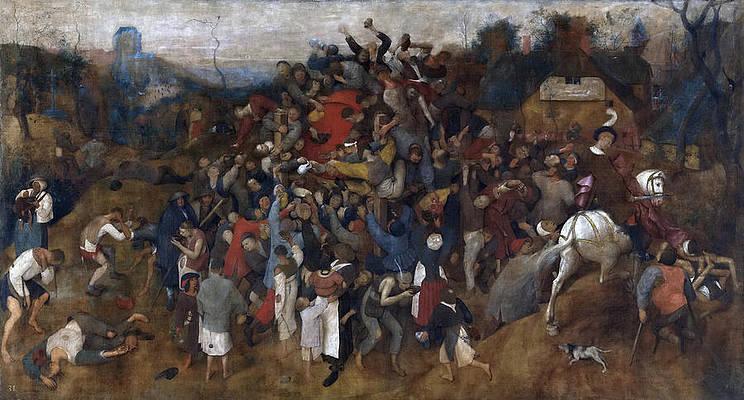 The Wine of Saint Martin's Day Print by Pieter Bruegel the Elder