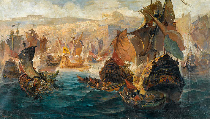 The Crusader Invasion Of Constantinople Print by Vasilios Chatzis
