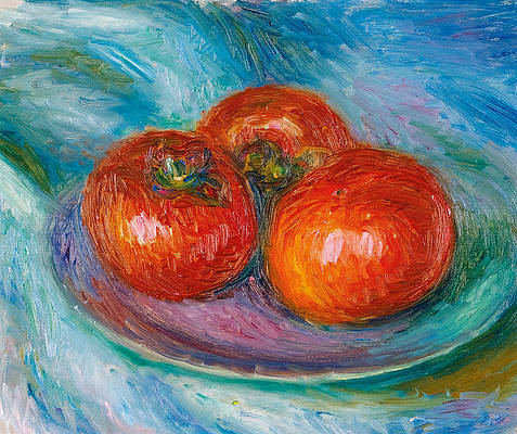 Three Tomatoes Print by William Glackens
