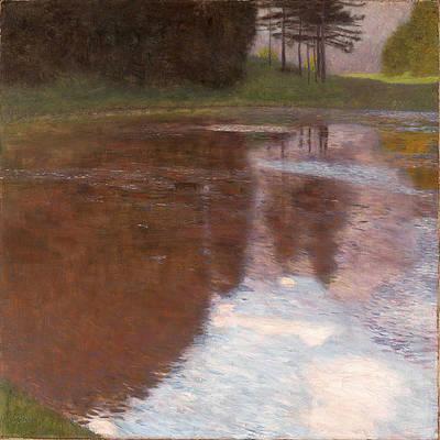 Tranquil Pond. Egelsee near Golling Salzburg Print by Gustav Klimt