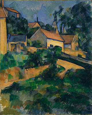 Turning Road at Montgeroult Print by Paul Cezanne