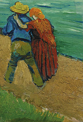 Two Lovers Print by Vincent van Gogh