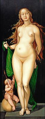 Venus and Amor Print by Hans Baldung Grien