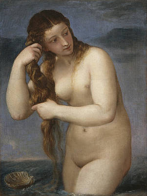 Venus Rising from the Sea Print by Titian