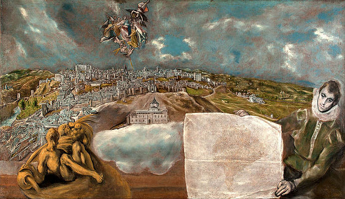View and Plan of Toledo Print by El Greco