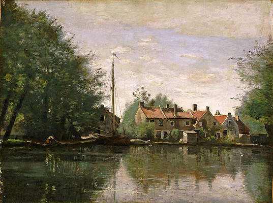 View in Holland Print by Jean-Baptiste-Camille Corot