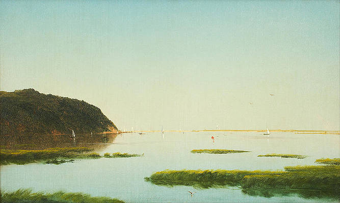 View of the Shrewsbury River New Jersey Print by John Frederick Kensett