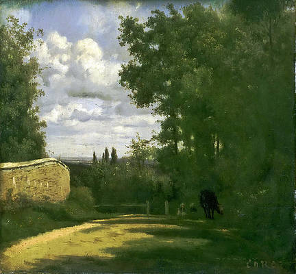 Ville d Avray Print by Jean-Baptiste-Camille Corot