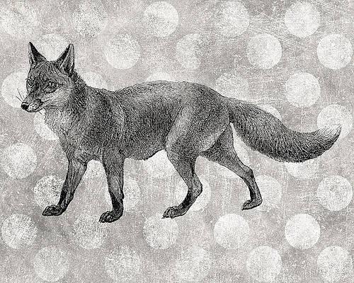 Fox Digital Art Pixels