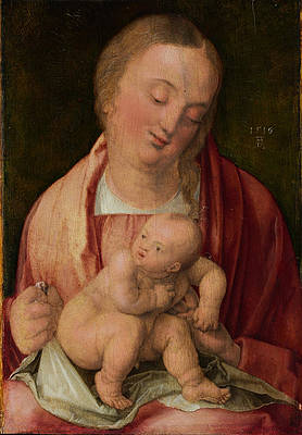 Virgin and Child Print by Albrecht Duerer