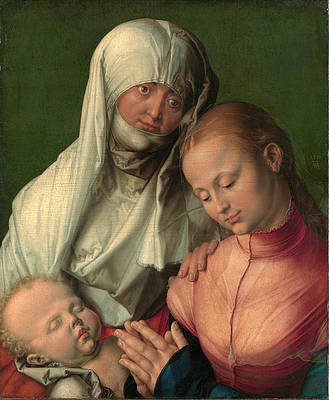 Virgin and Child with Saint Anne Print by Albrecht Duerer