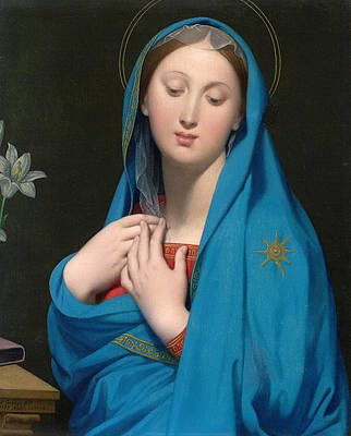 Virgin of the Adoption Print by Jean-Auguste-Dominique Ingres