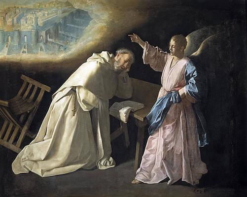 Vision of Saint Peter Nolasco Print by Francisco de Zurbaran