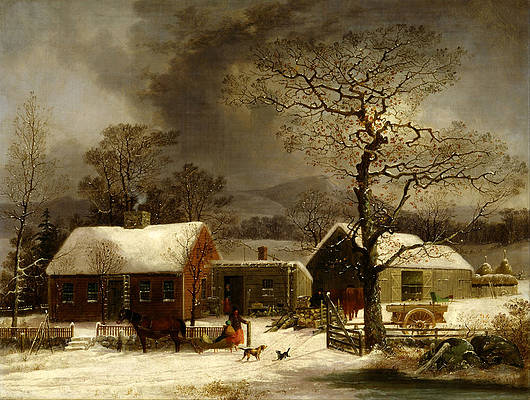 Winter Scene in New Haven. Connecticut Print by George Henry Durrie