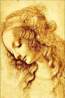 Woman in Profile Print by Leonardo Da Vinci