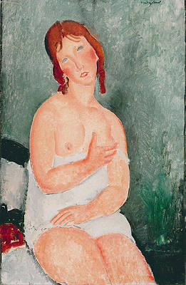 Young Woman in a Shirt Print by Amedeo Modigliani