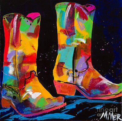 Boot Fancy by Nancy Cawdrey Western Cowgirl Cowboy Boot Limited Edition Print