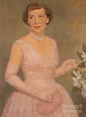 CANVAS Portrait of Mamie Eisenhower Art print POSTER