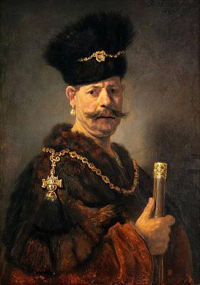 A Polish Nobleman Print by Rembrandt