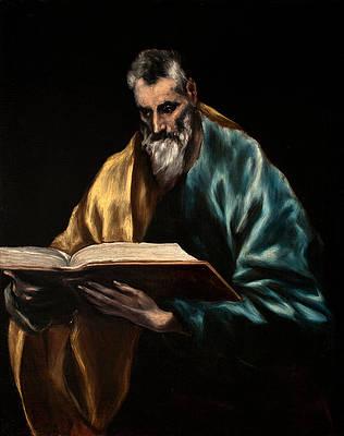 Apostle Saint Thomas Print by El Greco