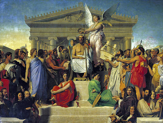 Apotheosis of Homer Print by Jean-Auguste-Dominique Ingres